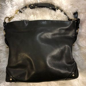 Heavy leather coach purse